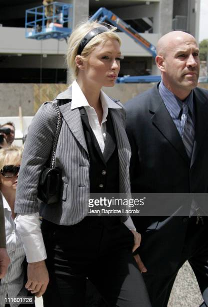 Paris Hilton during Paris Hilton Appears in Court May 4 2007 at Los Angeles County Courthouse in Los Angeles California United States