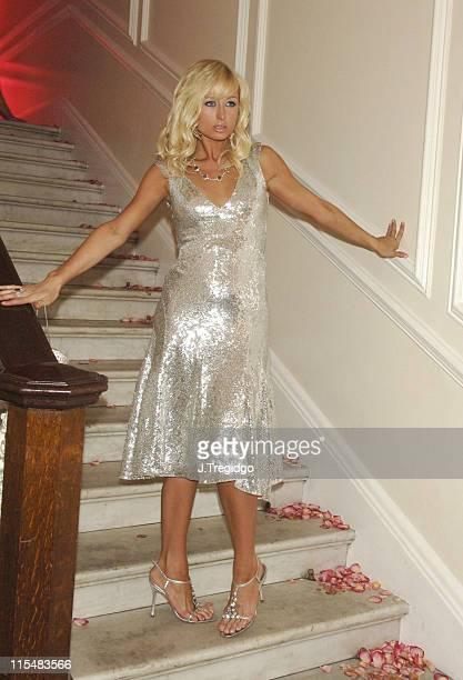 Paris Hilton during Paris Hilton Fragrance Launch London Party Inside at Il Bottaccio in London Great Britain