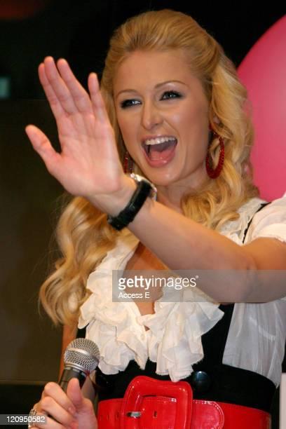 "Paris Hilton during Paris Hilton Greets Fans and Signs Her Debut Album ""Paris"" at HMV Shibuya - August 23, 2006 at HMV Shibuya in Tokyo, Japan."