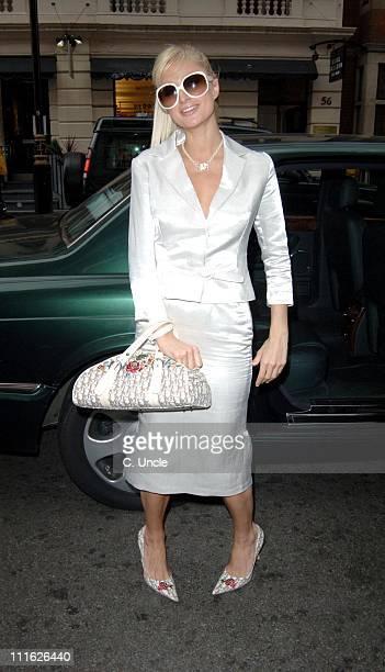 Paris Hilton during Paris Hilton Sighting at Claridges in London May 16 2005 at Claridges in London Great Britain
