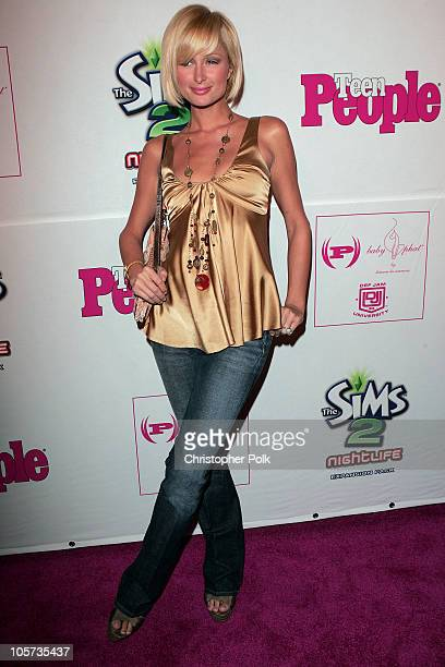 Paris Hilton during Teen People Celebrates Its Second Annual Young Hollywood Issue Arrivals at Cabana Club in Los Angeles California United States