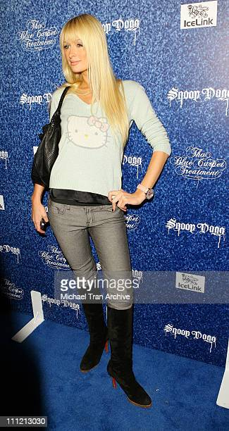 "Paris Hilton during ""Tha Blue Carpet Treatment"" Album Release Party - Arrivals at Area in West Hollywood, California, United States."