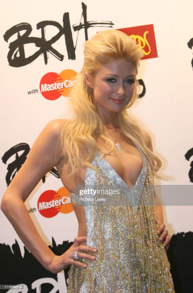 Paris Hilton during The Brit Awards 2006 with MasterCard - Press Room at Earls Court in London, Great Britain.