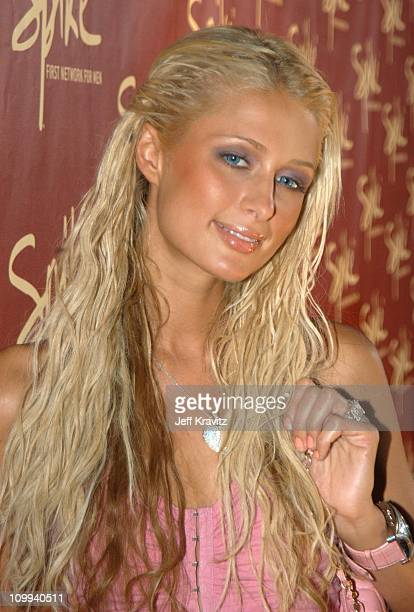 Paris Hilton during The Official Launch Party For Spike TV At The Playboy Mansion Arrivals at The Playboy Mansion in Bel Air California United States