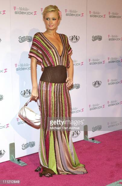 Paris Hilton during T-Mobile Limited Edition Sidekick II Launch - Arrivals at T-Mobile Sidekick II City in Los Angeles, California, United States.