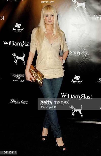 """Paris Hilton during William Rast Presents """"Street Sexy"""" Spring Summer 07 - Arrivals at Social Hollywood in Los Angeles, California, United States."""