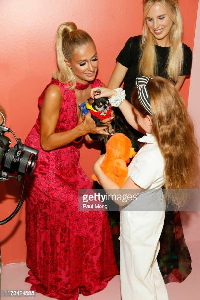 Paris Hilton Eloise Breckenridge Eisner and Tessa Hilton attend the Alice Olivia by Stacey Bendet arrivals during New York Fashion Week The Shows on...