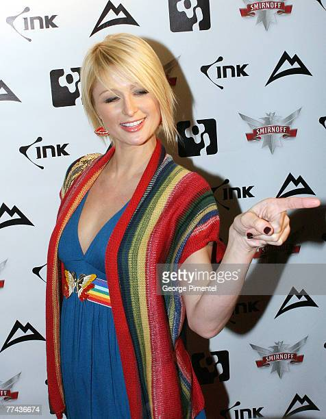 Paris Hilton hosts a Night at Guvernment on October 20 2007 in Toronto Canada