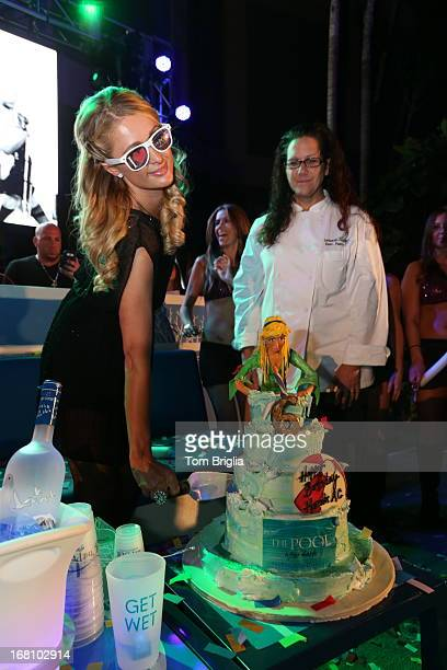 Paris Hilton hosts The Pool After Dark's Six year anniversary party at Harrah's Resort on Saturday May 4 2013 in Atlantic City New Jersey