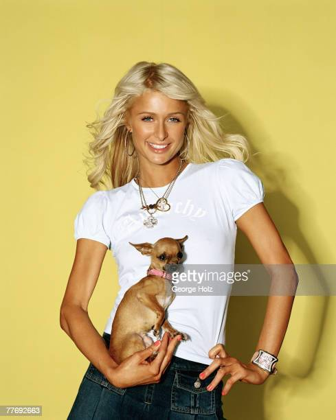 Paris Hilton is photographed for Seventeen Magazine on August 3, 2003 at Smashbox Studios in Culver City, California.