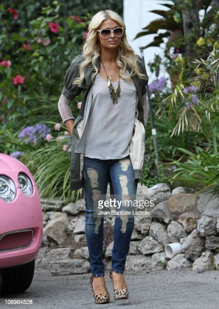 Paris Hilton is seen filming on November 18 2010 in Los Angeles California
