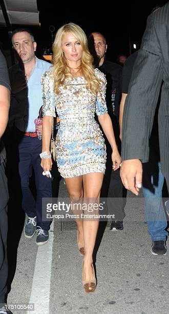 Paris Hilton is seen on July 31 2013 in Ibiza Spain