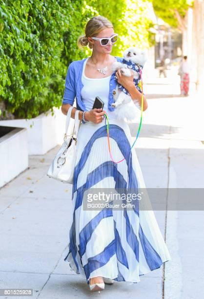 Paris Hilton is seen on June 26 2017 in Los Angeles California