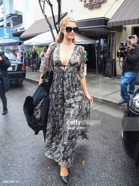 Paris Hilton is seen on March 21, 2018 in Los Angeles, California.