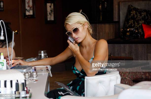 Paris Hilton is seen on October 30 2010 in Los Angeles California