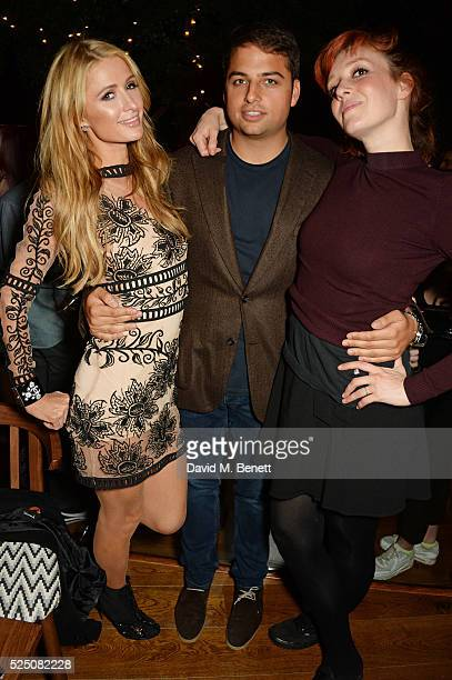 Paris Hilton Jamie Reuben and Kate Rothschild attend the launch of Restaurant Ours in Kensington on April 27 2016 in London England