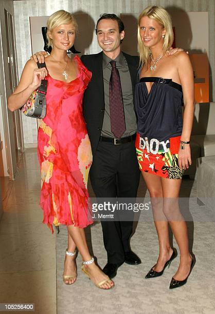 Paris Hilton Jeff Vespa and Nicky Hilton during La D De Dior Timepiece Launch at Dior in Beverly Hills CA United States