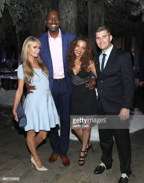 Paris Hilton John Salley Natasha Duffy and Chris Zylka attend Gaggenau Restaurant 1683 Honoring Operation Smile on May 23 2018 in Los Angeles...