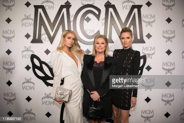 Paris Hilton, Kathy Hilton and Nicky Hilton arrive at the MCM Global Flagship Store Grand Opening On Rodeo Drive at the MCM Global Flagship Store on...