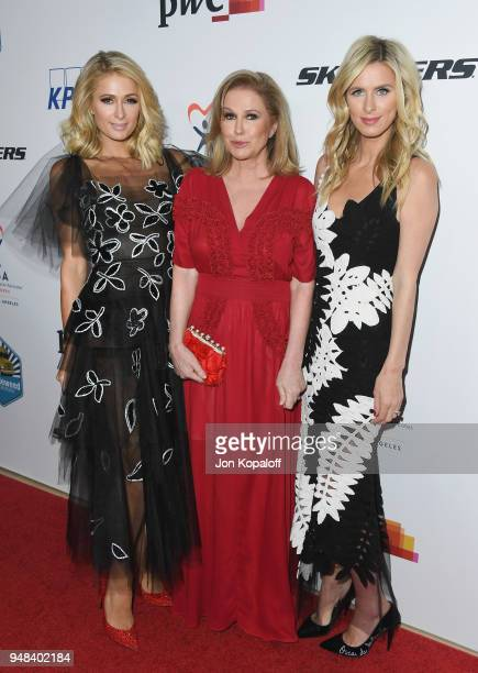 Paris Hilton Kathy Hilton and Nicky Hilton attend CASA Of Los Angeles' 2018 Evening To Foster Dreams Gala at The Beverly Hilton Hotel on April 18...