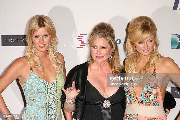 Paris Hilton Kathy Hilton and Nicky Hilton during 13th Annual Race to Erase MS Disco Fever to Erase MS Arrivals at Hyatt Regency Century Plaza in...