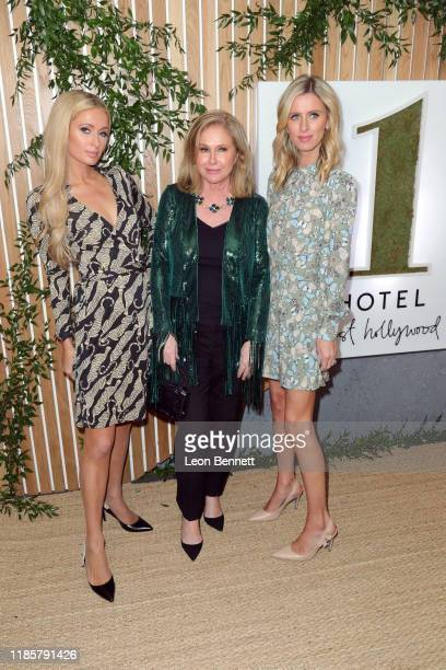 Paris Hilton, Kathy Hilton, and Nicky Hilton Rothschild attend the 1 Hotel West Hollywood Grand Opening Event at 1 Hotel West Hollywood on November...