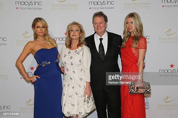 Paris Hilton Kathy Hilton Rick Hilton and Nicky Hilton attend European School Of Economics Foundation Vision And Reality Awards on December 5 2012 in...