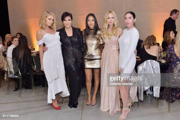 Paris Hilton Kris Jenner Emma Grede Rachel Zoe and Jen Atkin attend Rachel Zoe Fall 2018 LA Presentation on February 5 2018 at The Jeremy Hotel in...