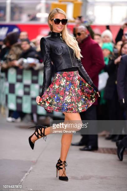Paris Hilton leaves 'Build' at Build Studios on December 19 2018 in New York City