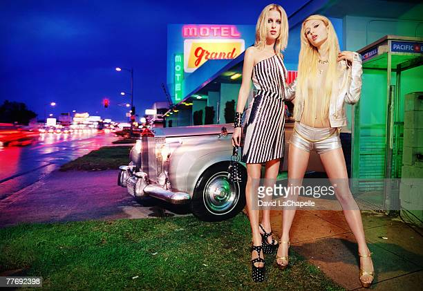 Paris Hilton Nicky Hilton Paris Hilton Nicky Hilton by David LaChapelle Paris Hilton Nicky Hilton Vanity Fair September 1 2000