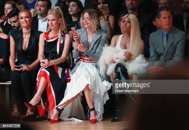 Paris Hilton Nicky Hilton Rothschild Jaime King Nicki Minaj and Stefano Tonchi attend the Monse fashion show during New York Fashion Week The Shows...