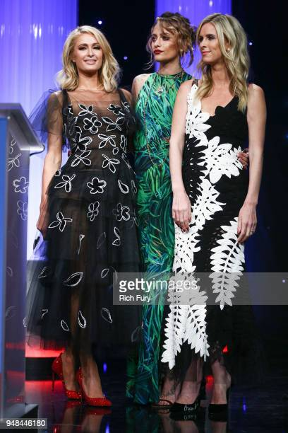 Paris Hilton Paris Jackson and Nicky Hilton Rothschild speak onstage during the CASA Of Los Angeles' 2018 Evening To Foster Dreams Galaat The Beverly...