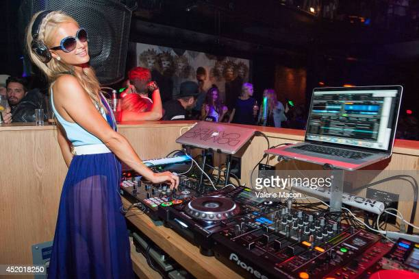 Paris Hilton performs at Paris Hilton's New Single 'Come Alive' Release Party at 1OAK on July 10 2014 in West Hollywood California