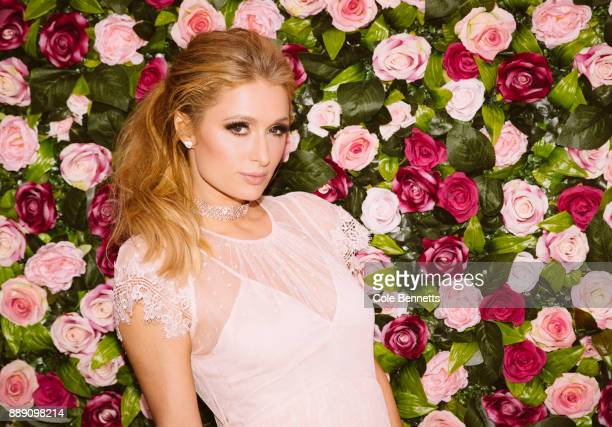 Paris Hilton photographed at the Rosé Rush MTV launch party during a promotion visit to Australia to launch her 23rd fragrance Rosé Rush on November...