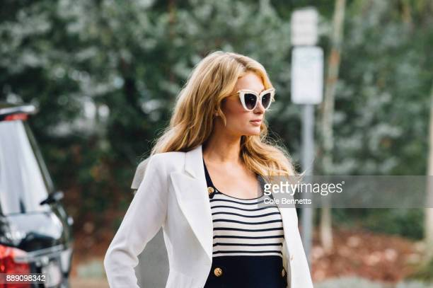 Paris Hilton photographed during a promotion visit to Australia to launch her 23rd fragrance Rosé Rush on November 29 2017 in Sydney Australia
