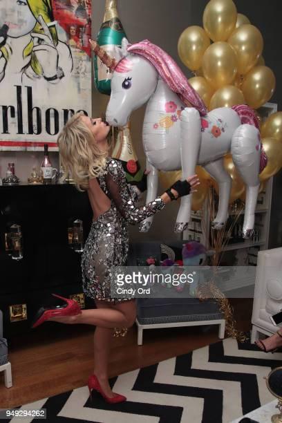 Paris Hilton poses during the Paris Hilton X Beautycon Festival NYC PreParty on April 20 2018 in New York City