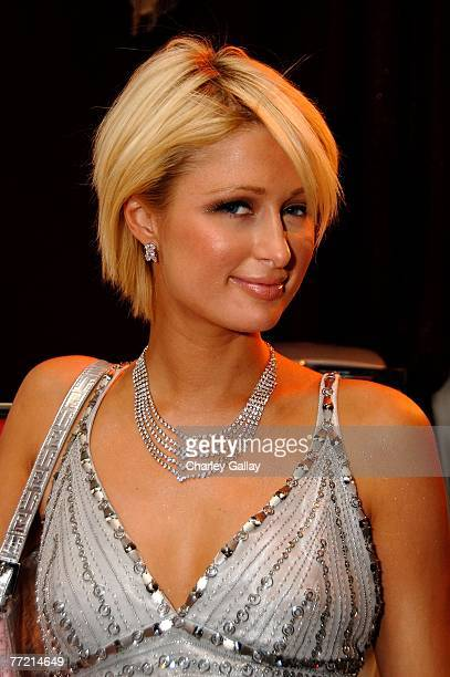 Paris Hilton poses in the Distinctive Assets Gift Lounge held during Andre Agassi's 12th Annual Grand Slam for Children at the MGM Grand Garden Arena...