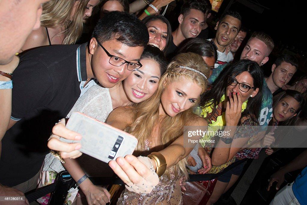 Paris Hilton presents 'Foam & Diamonds' on July 18, 2015 in Ibiza, Spain.