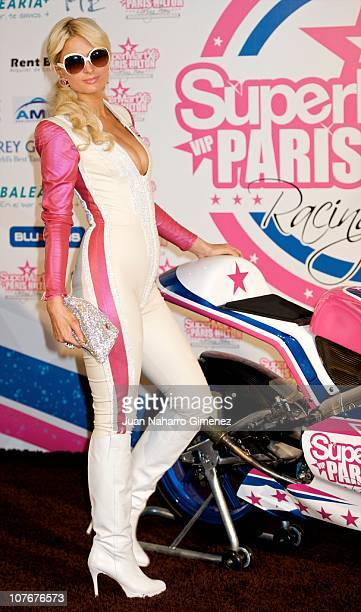 Paris Hilton presents Supermatxe Motorcycle Team at Hotel ME on December 18 2010 in Madrid Spain