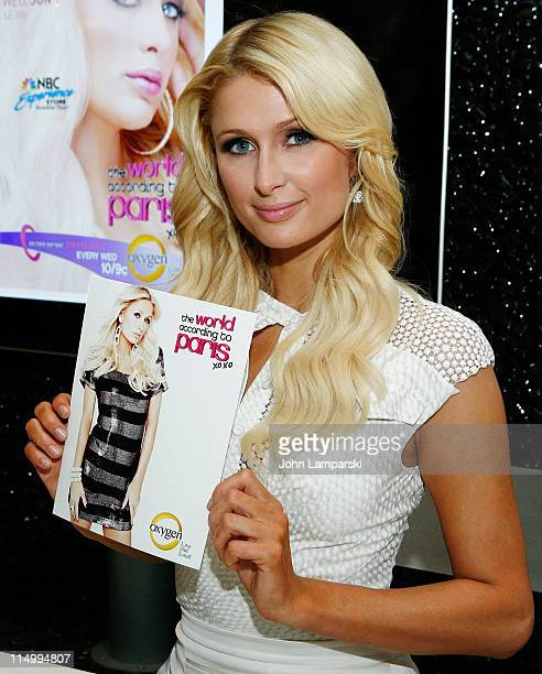 Paris Hilton promotes her new TV show The World According to Paris at the NBC Experience Store on June 1 2011 in New York City