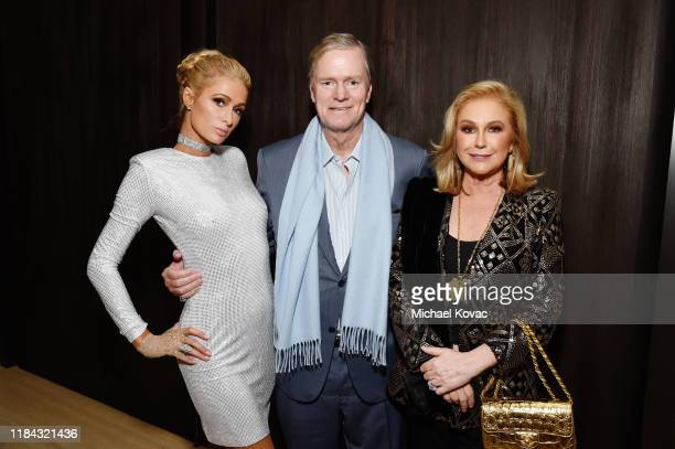 Paris Hilton, Richard Hilton and Kathy Hilton attend an Exclusive Preview of The West Hollywood EDITION on October 29, 2019 in West Hollywood,...