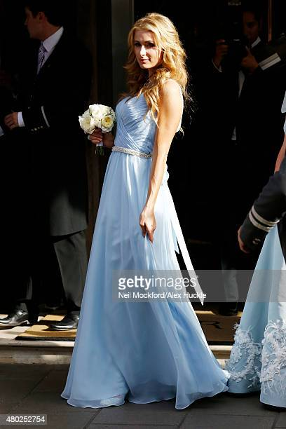 Paris Hilton seen leaving Claridge's Hotel for Nicky Hilton's Wedding on July 10, 2015 in London, England. Photo by Neil Mockford/Alex Huckle/GC...
