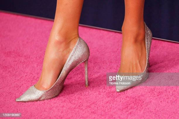 Paris Hilton shoe detail attends The Women's Cancer Research Fund's Unforgettable Evening 2020 at Beverly Wilshire A Four Seasons Hotel on February...