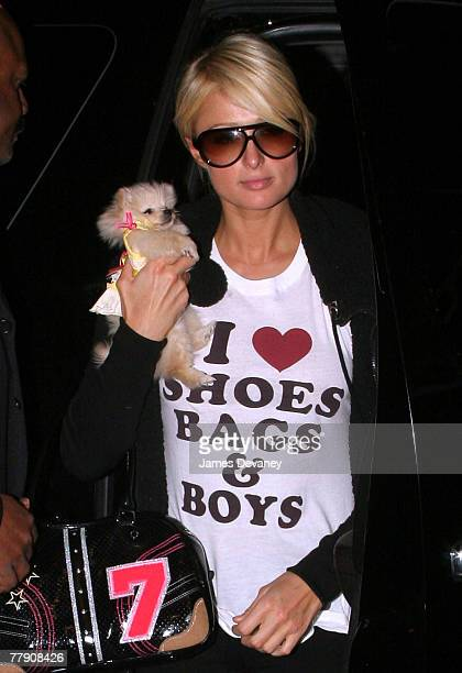 Paris Hilton sighting in New York City on November 13 2007