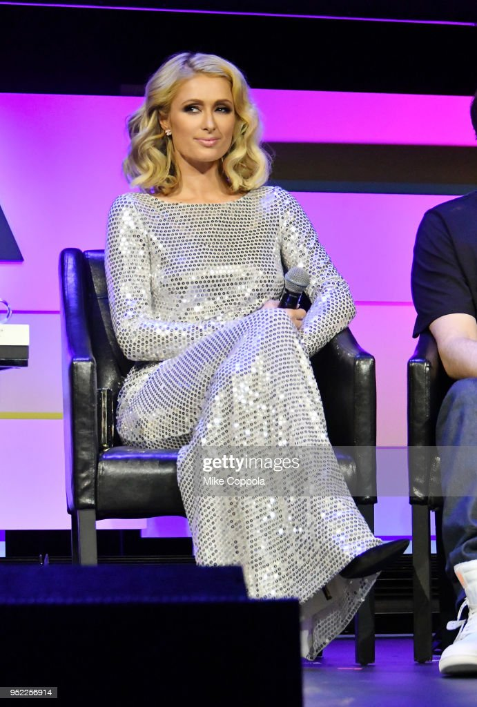Paris Hilton speaks onstage at the screening of 'The American Meme' during the 2018 Tribeca Film Festival at Spring Studios on April 27, 2018 in New York City.