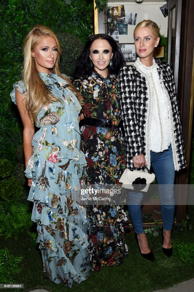 Paris Hilton, Stacey Bendet and Nicky Hilton attend Alice + Olivia By Stacey Bendet - fashion show during September 2017 - New York Fashion Week: The Shows at Gallery 2, Skylight Clarkson Sq on September 12, 2017 in New York City.