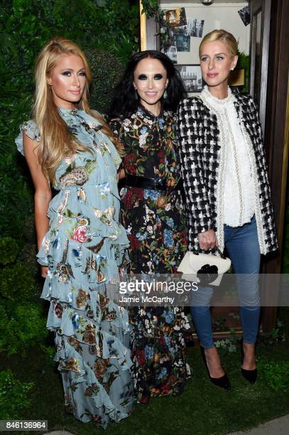 Paris Hilton Stacey Bendet and Nicky Hilton attend Alice Olivia By Stacey Bendet fashion show during September 2017 New York Fashion Week The Shows...