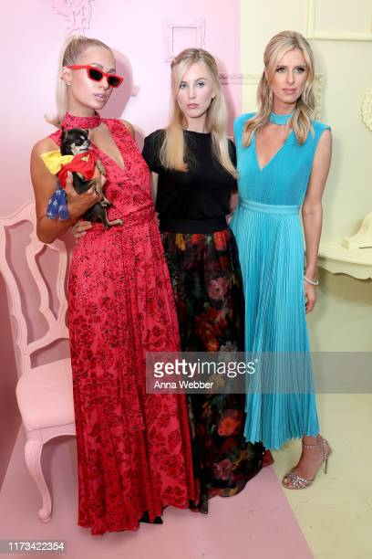 Paris Hilton Tessa Hilton and Nicky Hilton attend the alice olivia by Stacey Bendet Spring 2020 Fashion Presentation at Root Studio on September 09...
