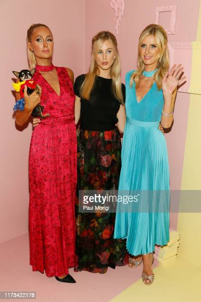 Paris Hilton Tessa Hilton and Nicky Hilton Rothschild attend the Alice Olivia by Stacey Bendet arrivals during New York Fashion Week The Shows on...