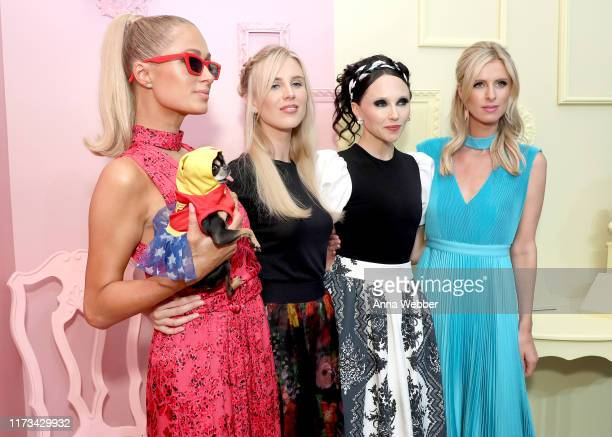 Paris Hilton Tessa Hilton Stacey Bendet and Nicky Hilton attend the alice olivia by Stacey Bendet Spring 2020 Fashion Presentation at Root Studio on...